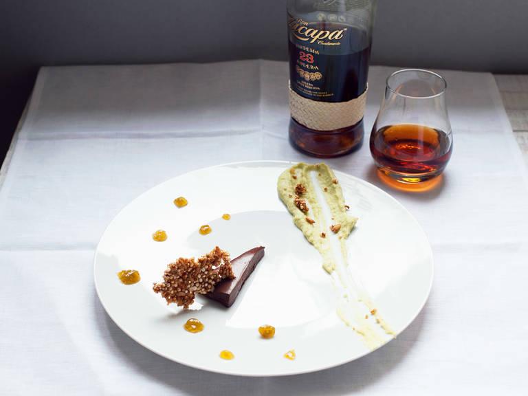 Rum-Schokoladendessert
