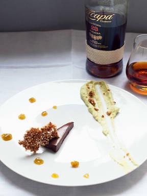 Chocolate rum dessert