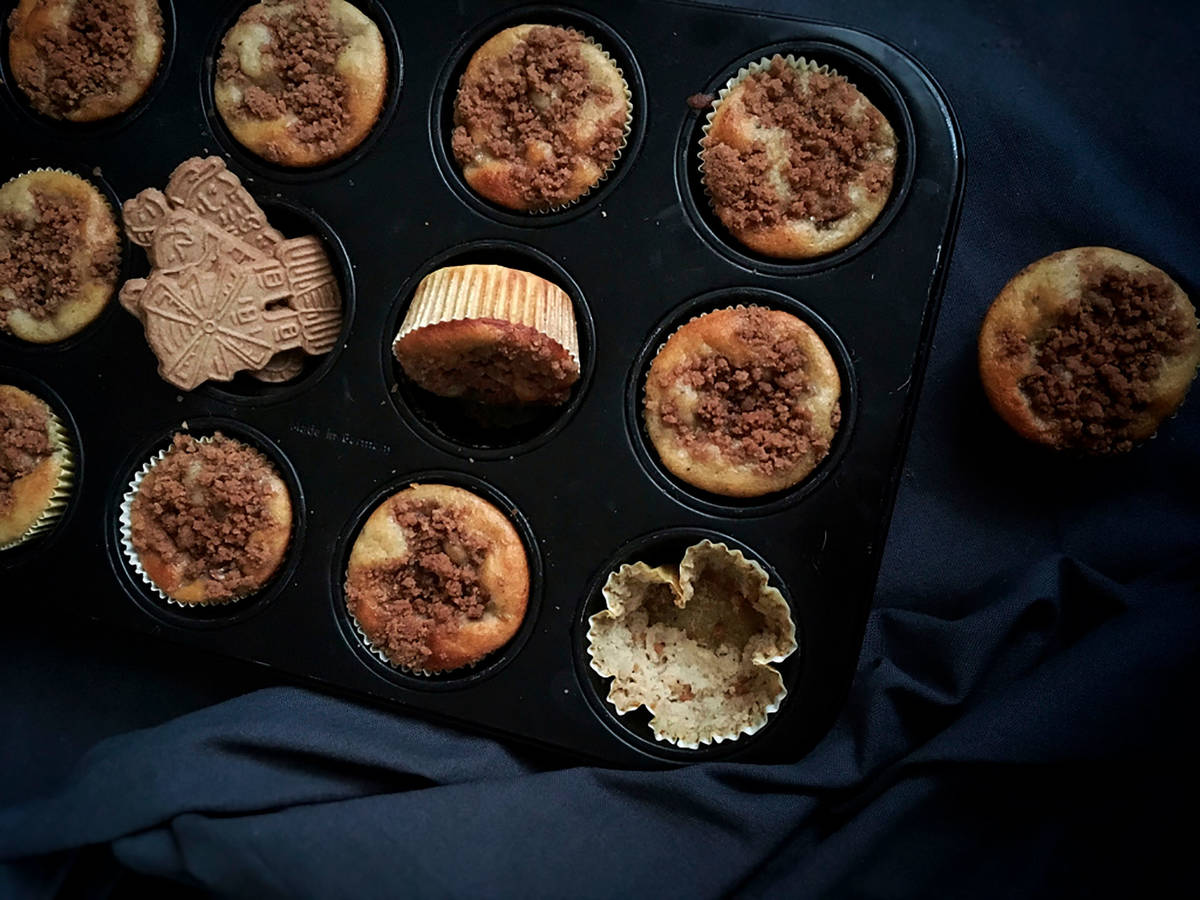 Banana-speculaas muffins