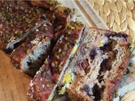 Blueberry-mango-date bread