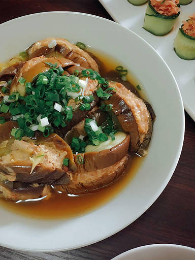 Chinese stuffed eggplant
