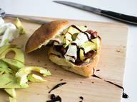 Ciabatta with bacon and avocado