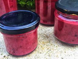 Marzipan and berry jam