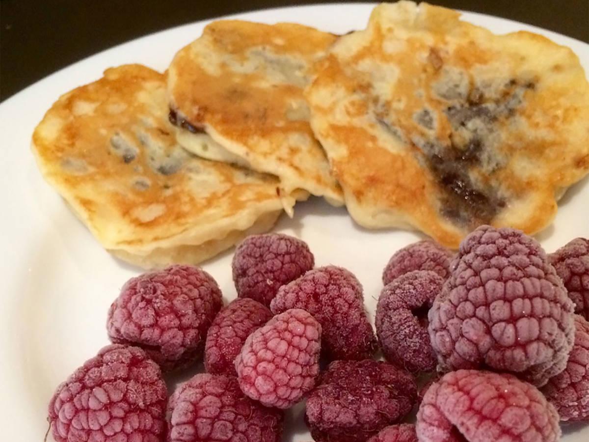 Nutella-filled pancakes