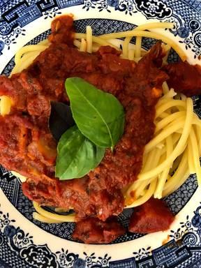 Spaghetti in marinara sauce
