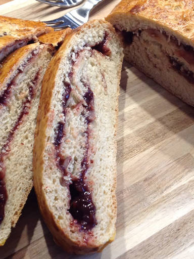 Sweet plum bread