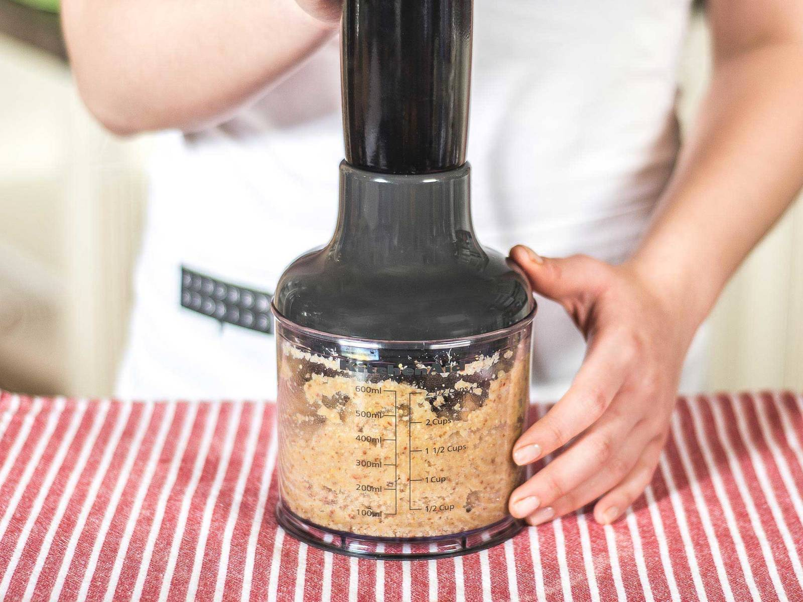 Stir remaining olive oil into the pesto.