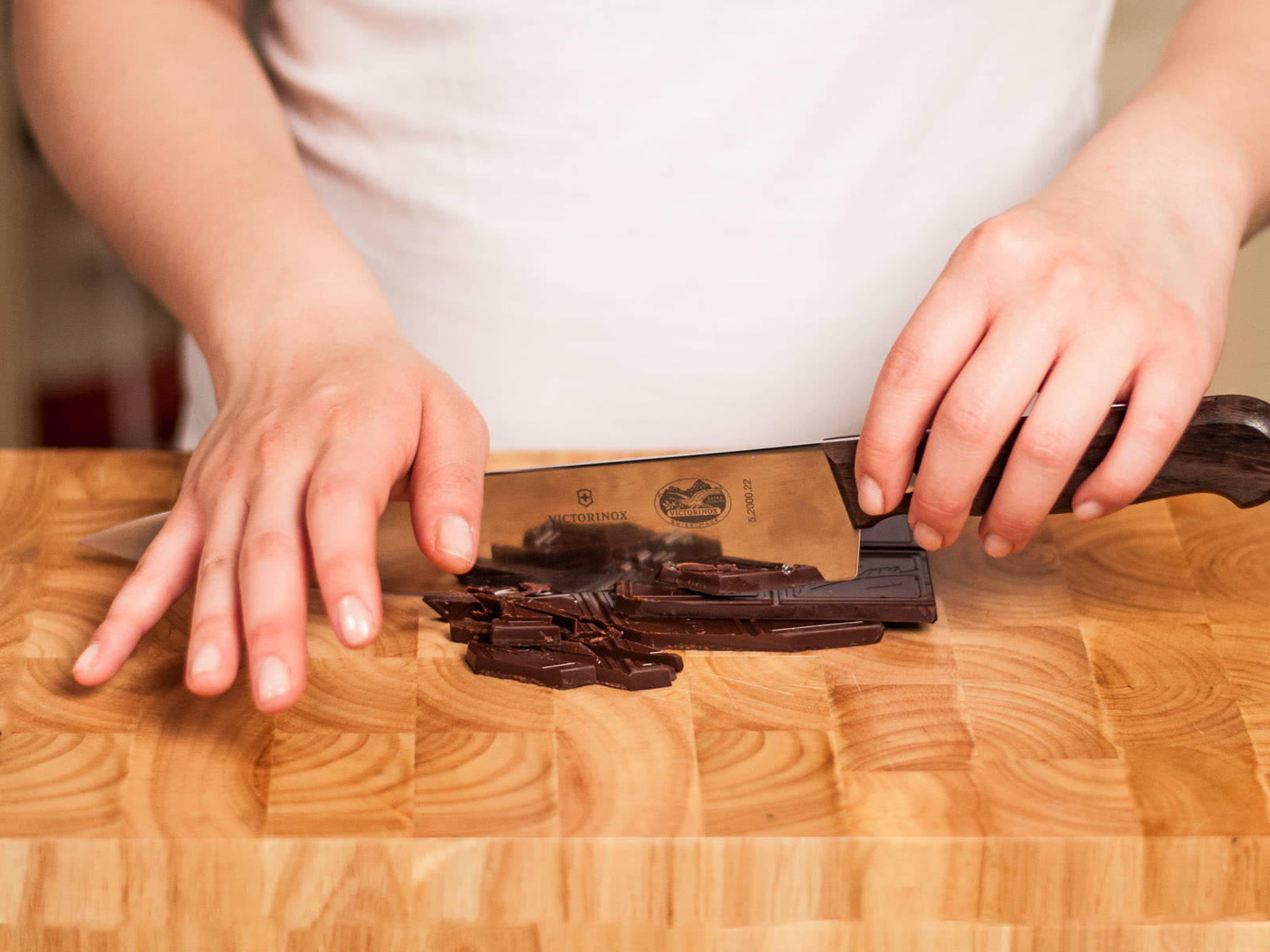 Roughly chop chocolate.
