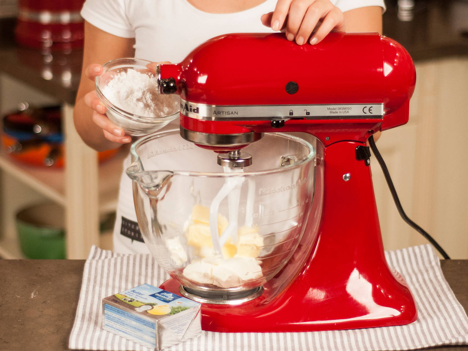 For the icing, beat cream cheese, soft butter, and confectioner's sugar until smooth.