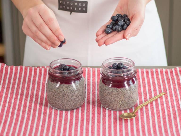 Garnish pudding with fresh blueberries. Enjoy!