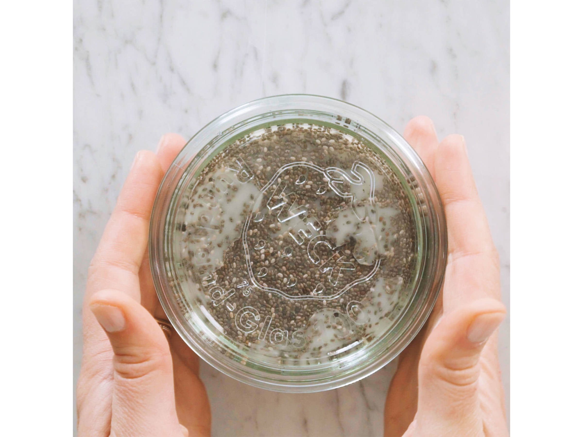 Add chia seeds and mix until combined. Cover and refrigerate overnight.
