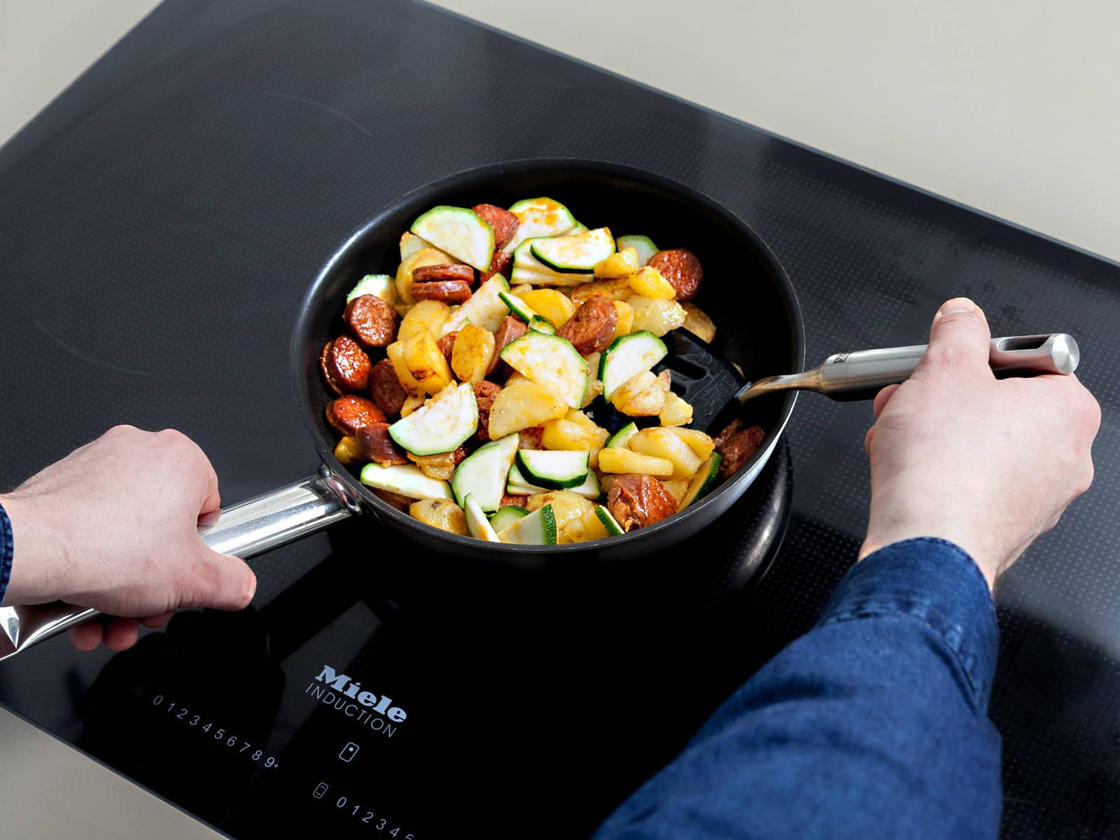 Frittata mit Chorizo und Frühkartoffeln
