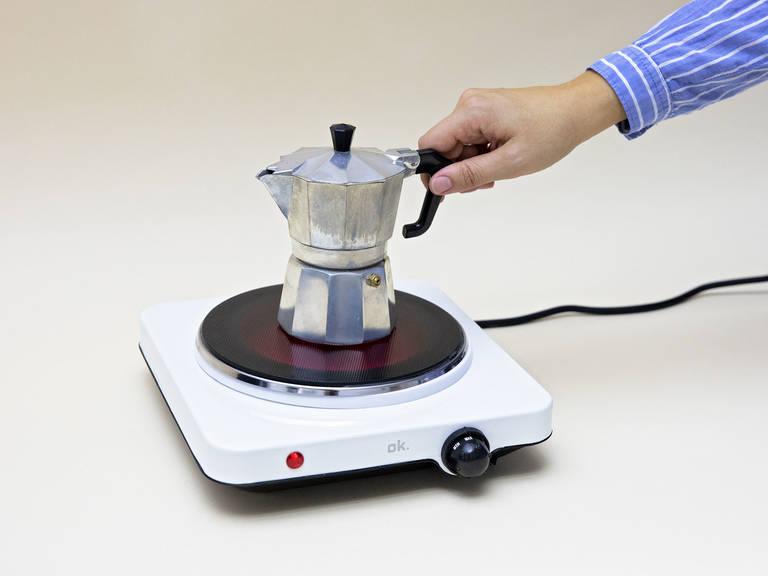 Make a shot of espresso. Let cool slightly.