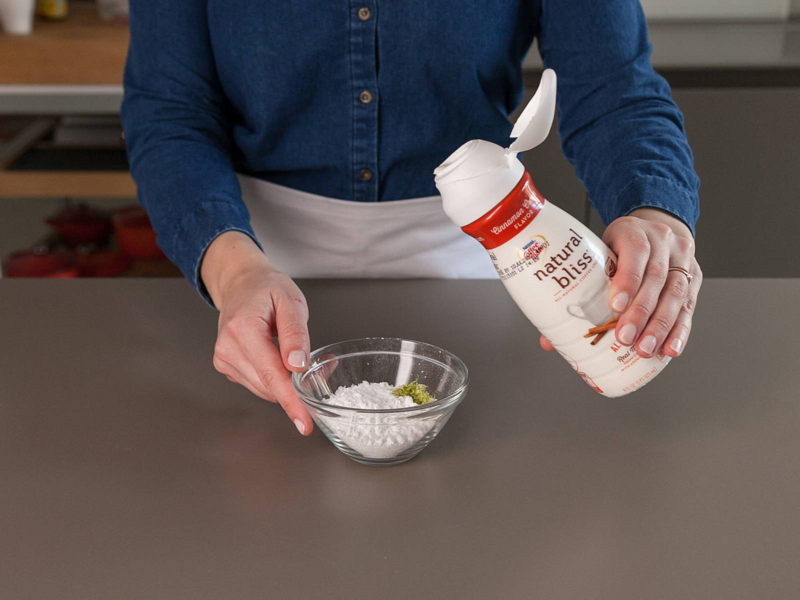 Whisk together powdered sugar, coffee creamer, and lime zest in small bowl. Drizzle over warm rolls. Enjoy!