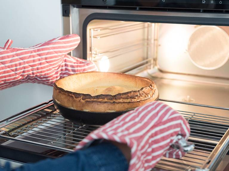 Bake for 15 – 20 min. at 220°C/425°F, or until puffed and golden. Edges should be deep golden brown and crisp.