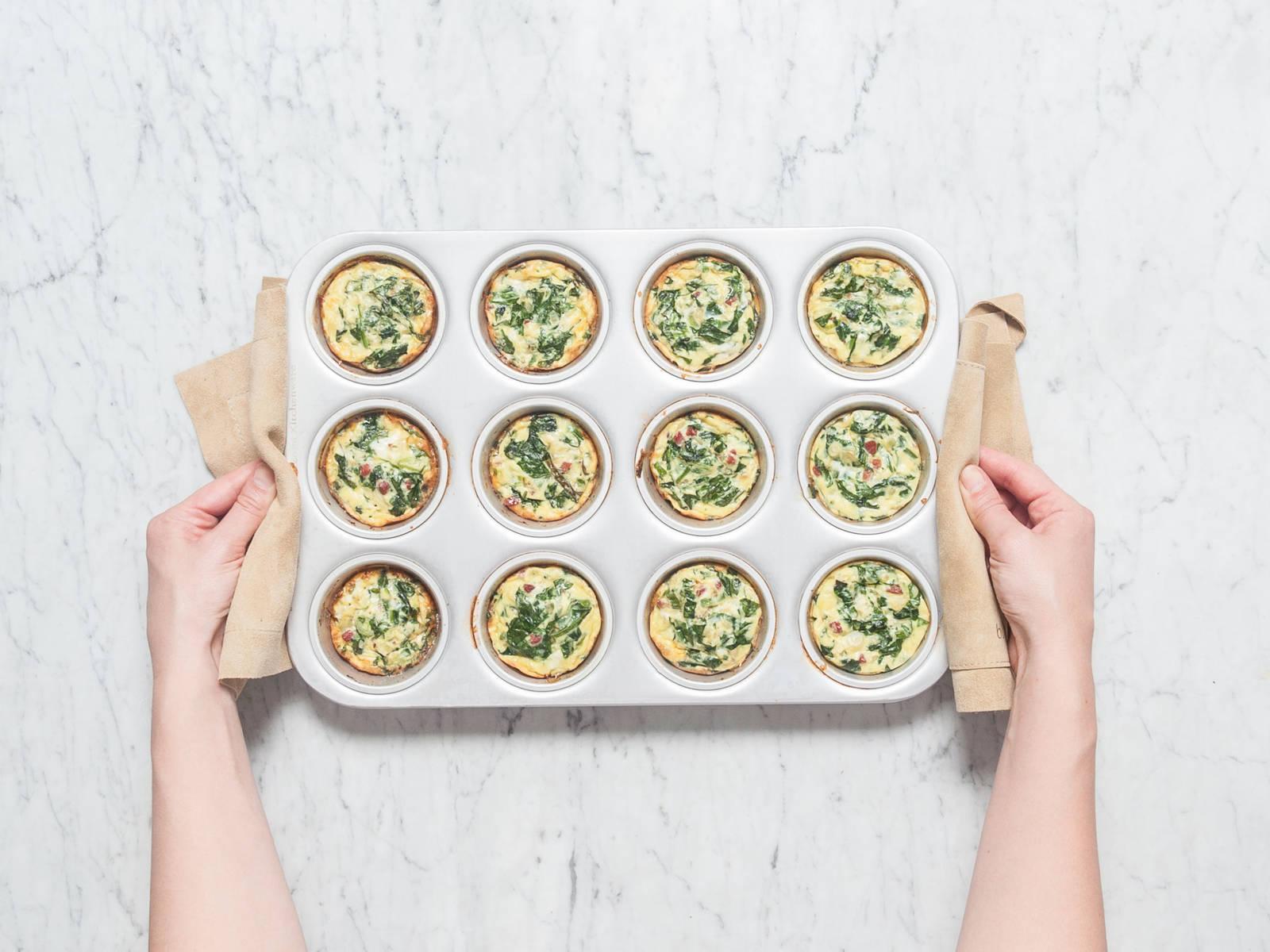 放到烤箱中,以180℃烤20分钟,或直至呈金黄色。趁热享用,祝好胃口!