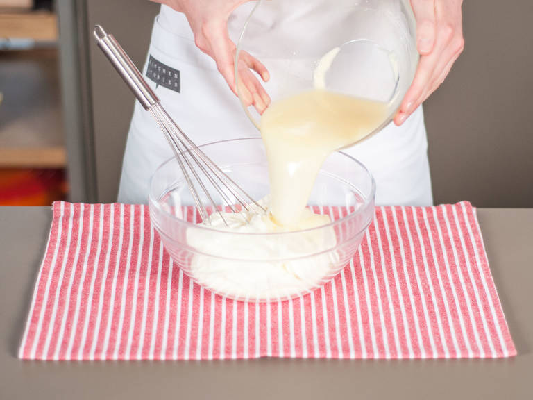 Add gelatin mixture to the mixture. Stir well to combine.