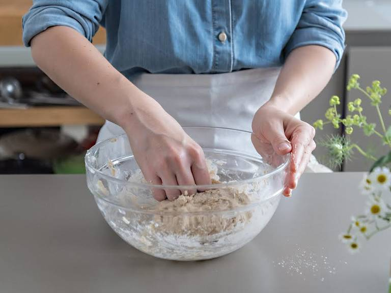 Mix flour, some sugar, and salt in a large mixing bowl. Cut butter into cubes, and work into flour mixture until large crumbs form. Add water a little at a time, and continue to mix until a smooth dough forms. Wrap dough tightly in plastic wrap and refrigerate for at least 2 hrs.