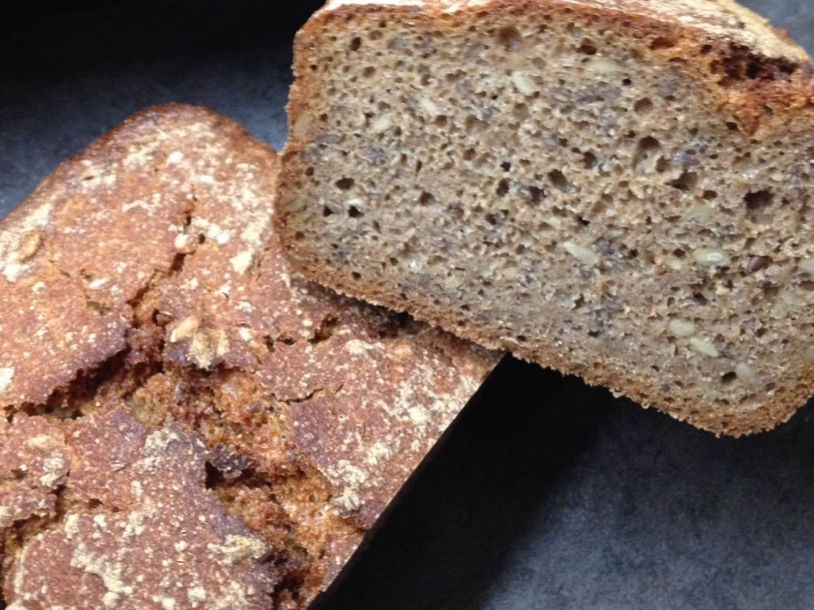 烤好后,将面包放到冷却架上,静置一天后再享用。