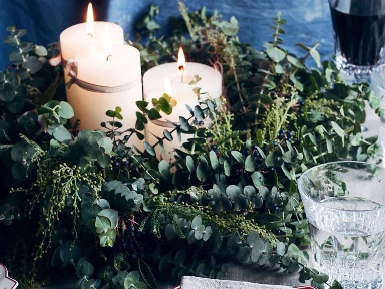 Elegant Wreath Centerpiece