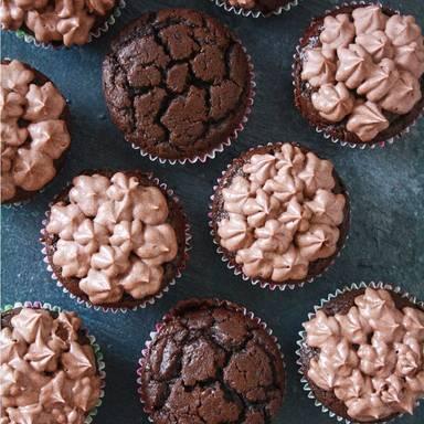 Schoko-Cupcakes mit Mascarponecreme