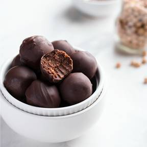 Chickpea chocolate truffles