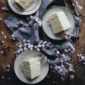 Mint cream cake