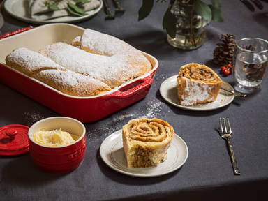 Slovenian-inspired yeasted nut cake (Potica)
