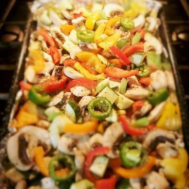 Ratatouille mit Feta aus dem Ofen