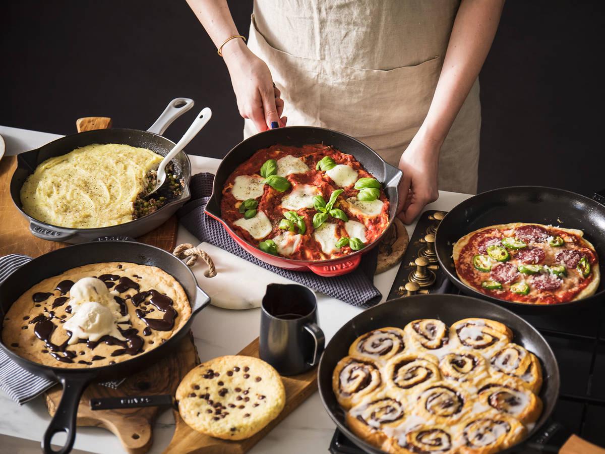 Pizza, Lasagne und Cookies aus der Pfanne?