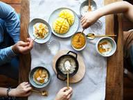 梦幻美味在召唤:椰奶大米布丁佐芒果酱