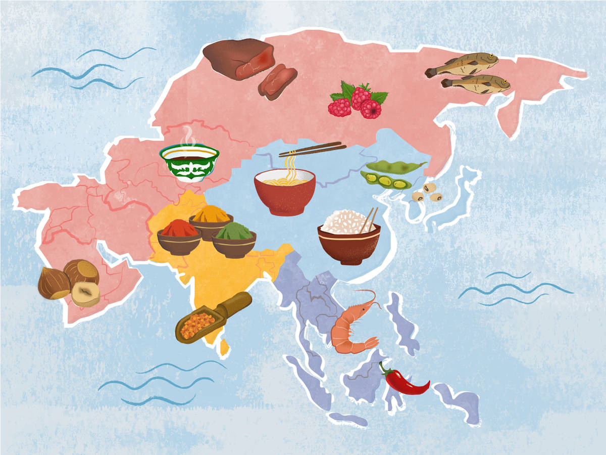 An Edible Map of Asian Cuisines