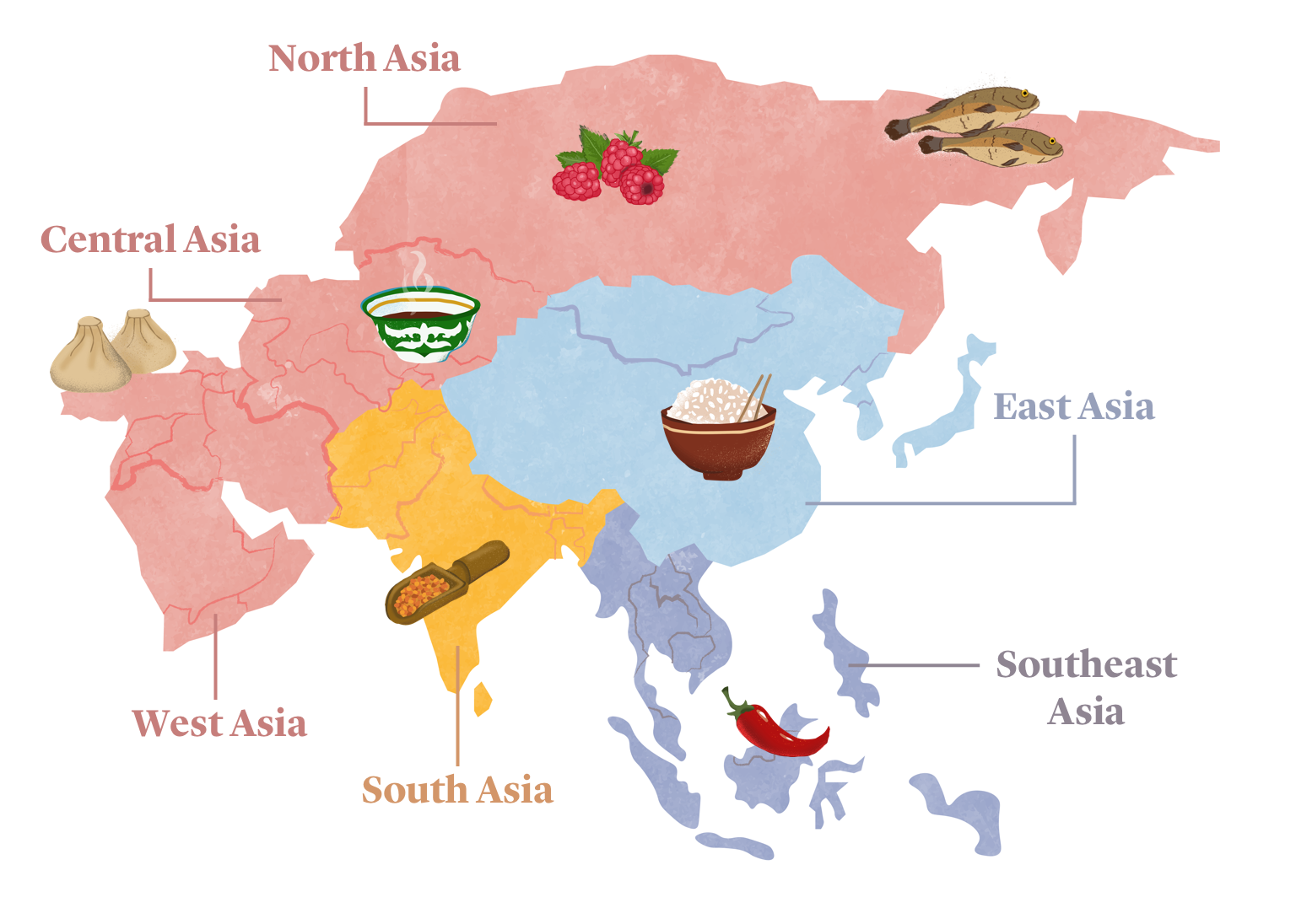 An Edible Map and Guide to Asian Cuisines   Kitchen Stories