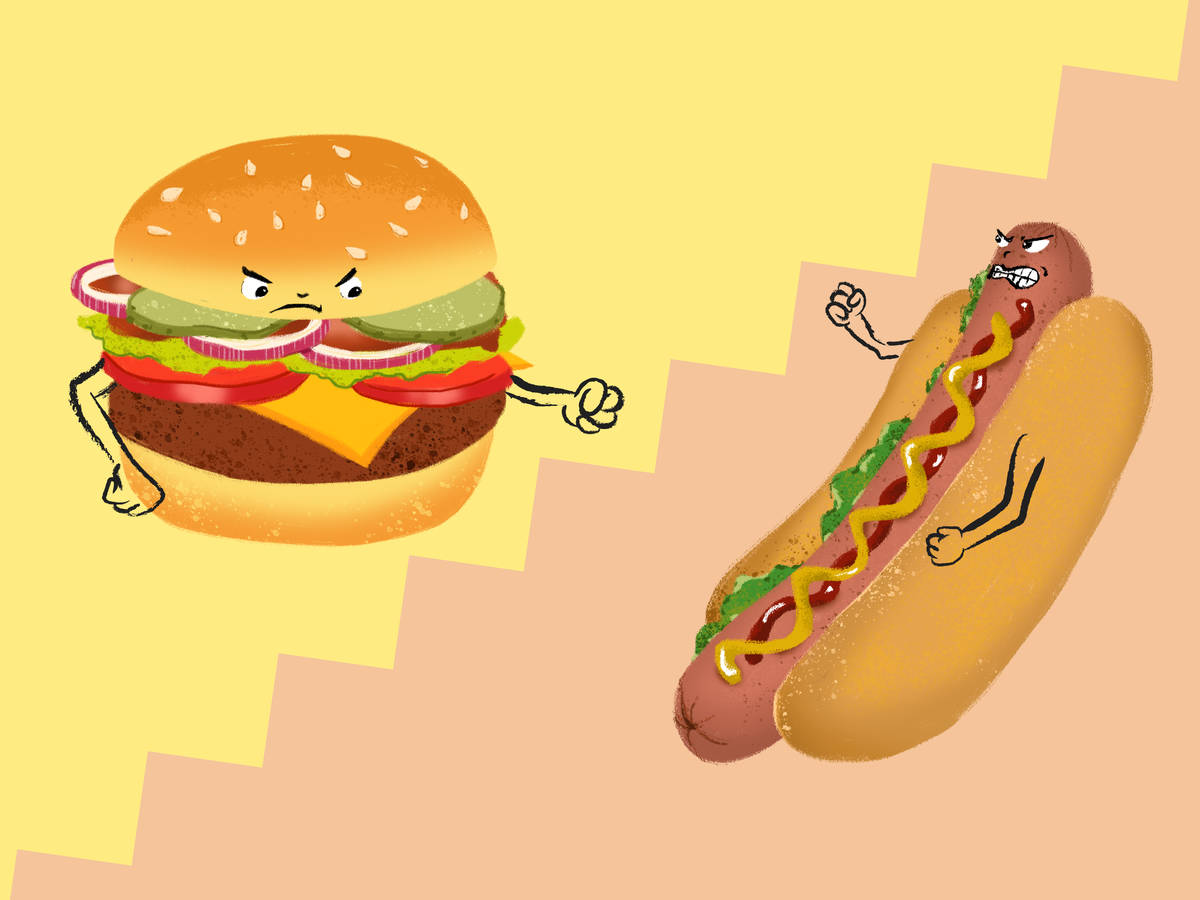Which is Better? The Burger and the Hot Dog Battle It Out