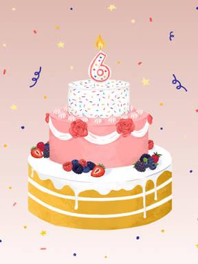 祝我们生日快乐——厨房故事今天六岁啦!