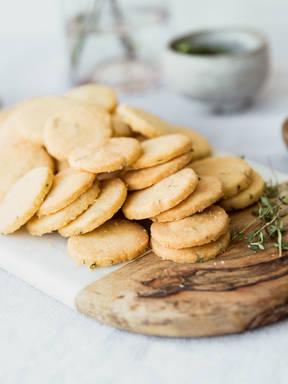 Parmesan-Thymian-Shortbread