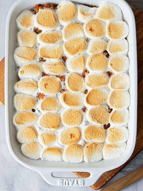 Granny's sweet potatoes with peanut butter and marshmallows