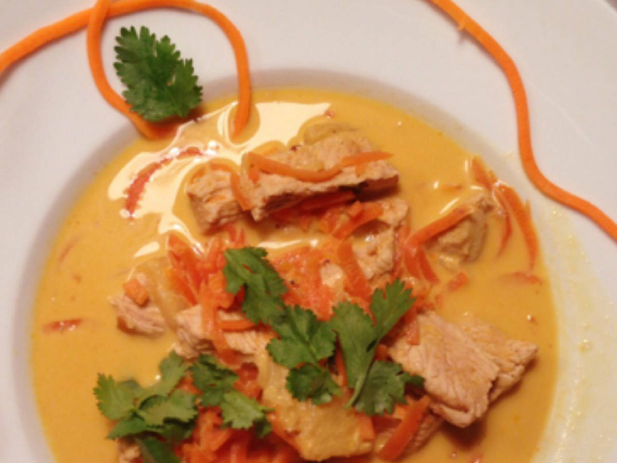 Curried carrot and turkey stew