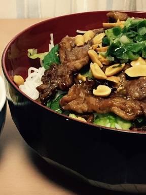 Bún thịt nướng (Vietnamese rice noodle bowl with pork)