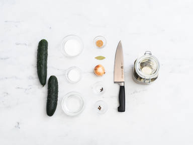 Homemade cucumber pickles