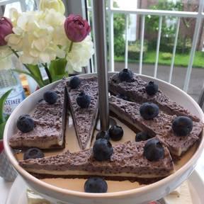 Raw Blaubeer Cheesecake