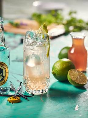 Rhubarb Wonder - ein alkoholfreier Aperitif mit Tonic Water