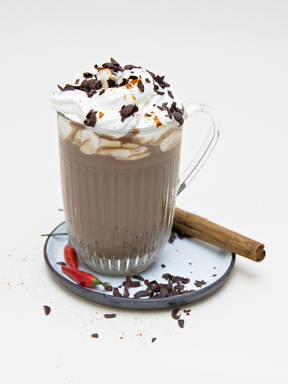 Spicy chili-coconut hot chocolate