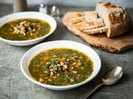 Spinat-Bohnen-Suppe