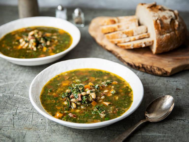 菠菜白豆汤