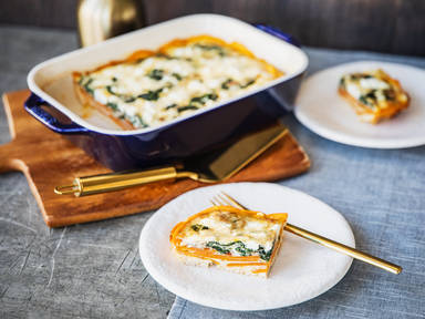 Sweet potato, spinach, and feta frittata