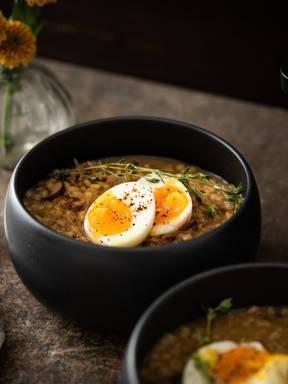 蘑菇大麦米浓汤