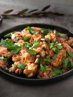 Chicken Wings aus dem Ofen mit Pomelo-Soße