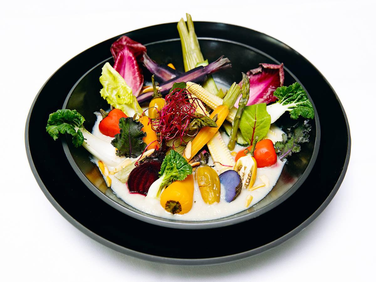 蒸蔬菜佐洋姜酱