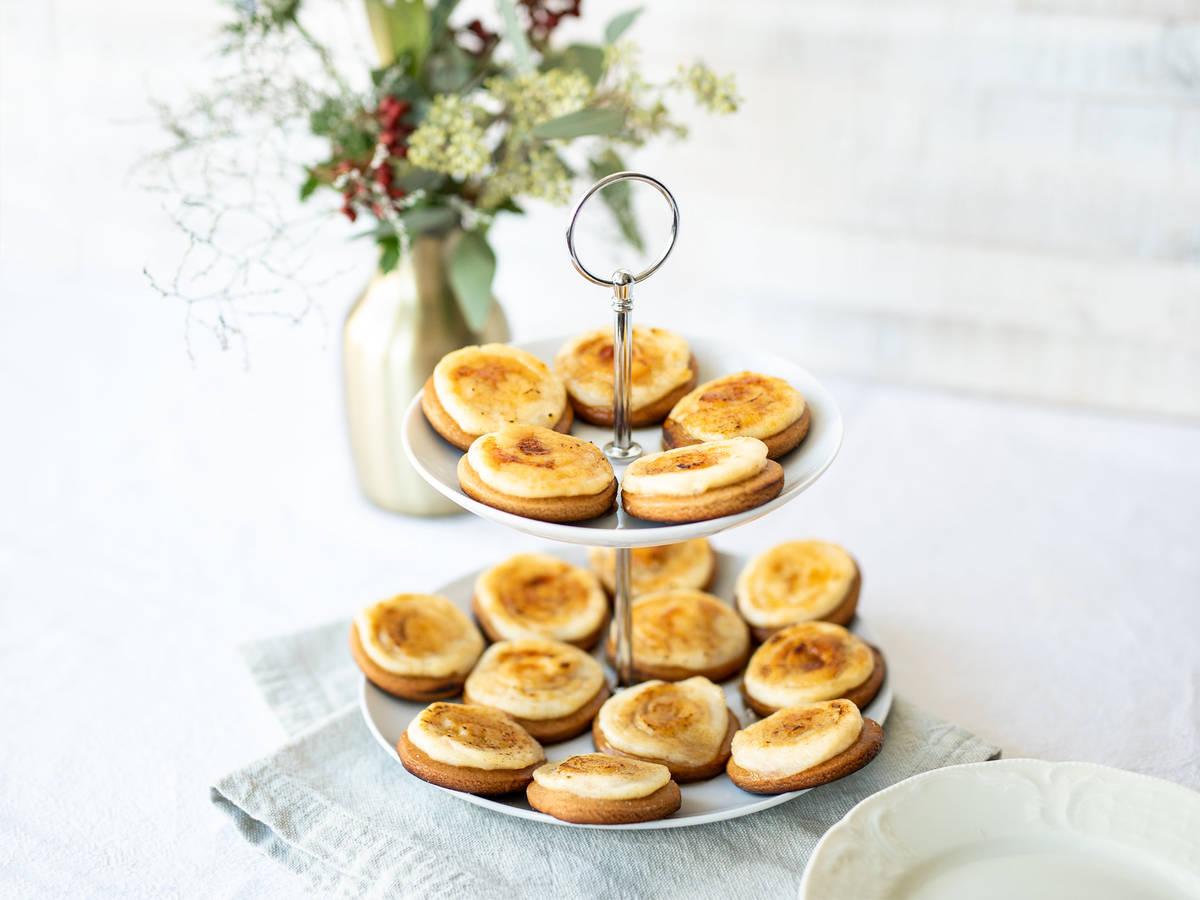 Weihnachtliche Crème-Brûlée-Kekse